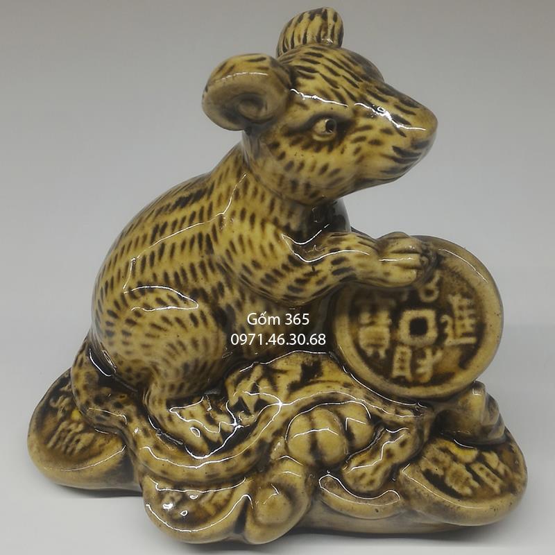 Tượng 12 con giáp gốm sứ Bát Tràng - Tuổi Tý