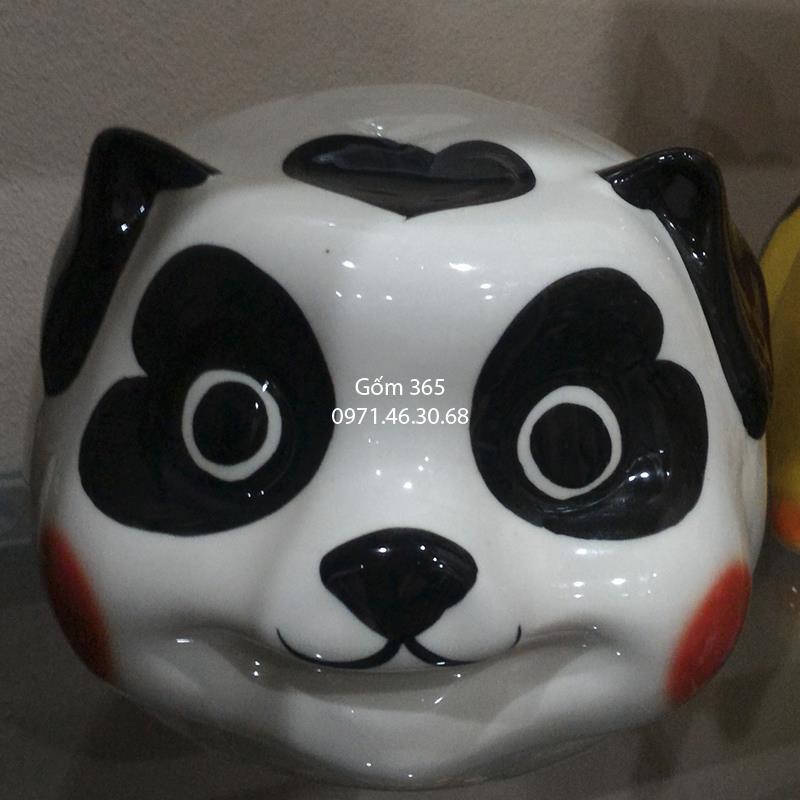 Tượng con giống tiết kiệm Bát Tràng - Gấu trúc tiết kiệm dáng quả bóng