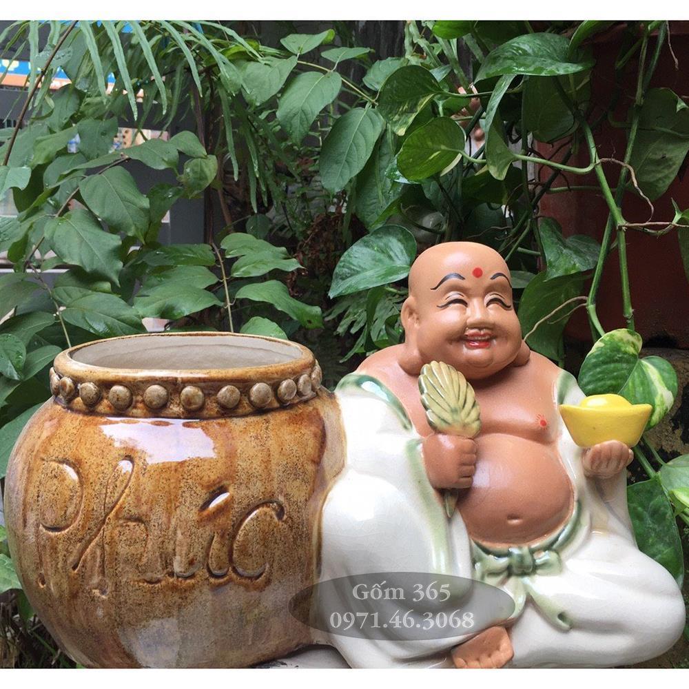 Tượng sứ trang trí sân vườn Di Lặc ban phúc lộc